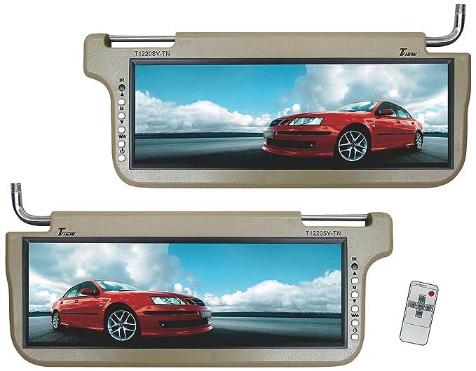 Amazon Com Tview T1220sv Tn Sunvisor Monitor Tan Car Electronics
