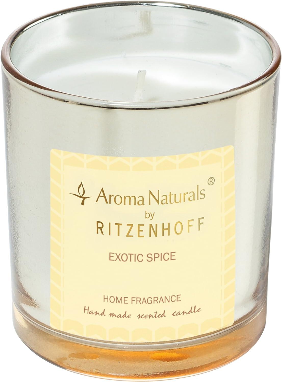 RITZENHOFF Aroma Naturals Luxury Bougie parfum/ée en Verre Noir//Jaune 7 x 7 x 8 cm