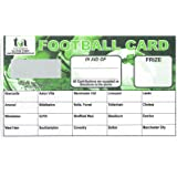 Football Fundraising Cards, 20 Team (Pack 25)