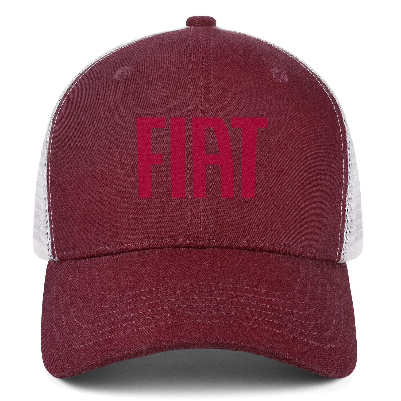 Snapback Casual Mesh Hat All Cotton Trucker Caps Fiat-Automobiles-Logo