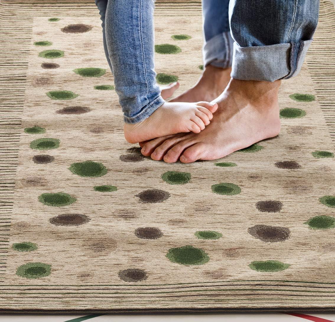 Modern Floor Mat 55x80 Spotted Carpet Made in Italy 55X80, Pistachio Green Long Runner Rug 2 Kitchen Mat Non Slip Washable Non Slip Mat for Kitchen Homelife Kitchen Rug