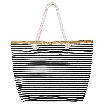 Femme Grand Taille Shopping Fourre Tout Grande Vacances Zip De Xxl À Plage Czemo Main Sac Avec Impermeable Aj354RL