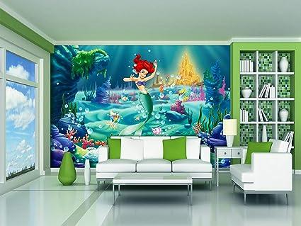AG Design FTDXXL 0254 Arielle Disney Princess, Papier Fototapete  Kinderzimmer- 360x255 cm - 4 teile, Papier, multicolor, 0,1 x 360 x 255 cm