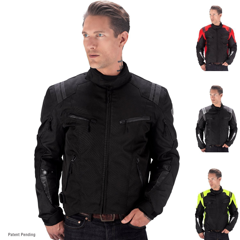 Viking Cycle Ironborn Motorcycle Textile Jacket (Black-L)