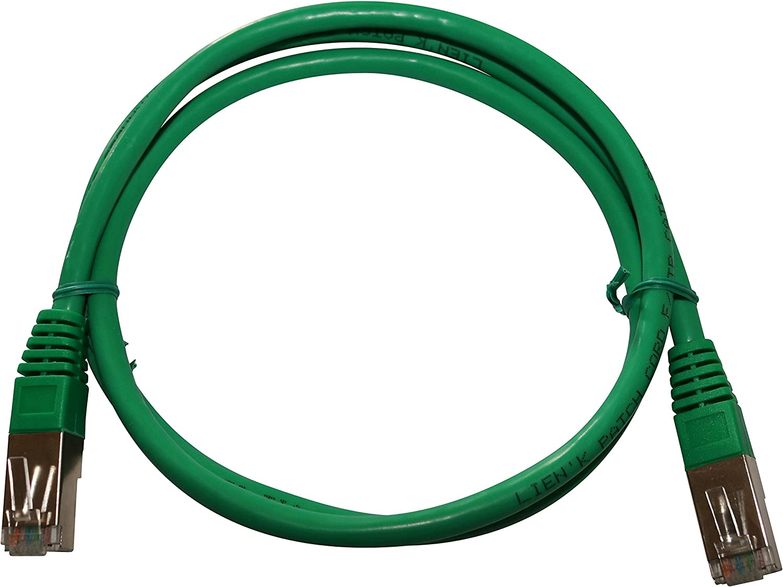 lien K 6105-4/Shielded Cat6//°F//UTP Patch ethernet Cable 5/m Green