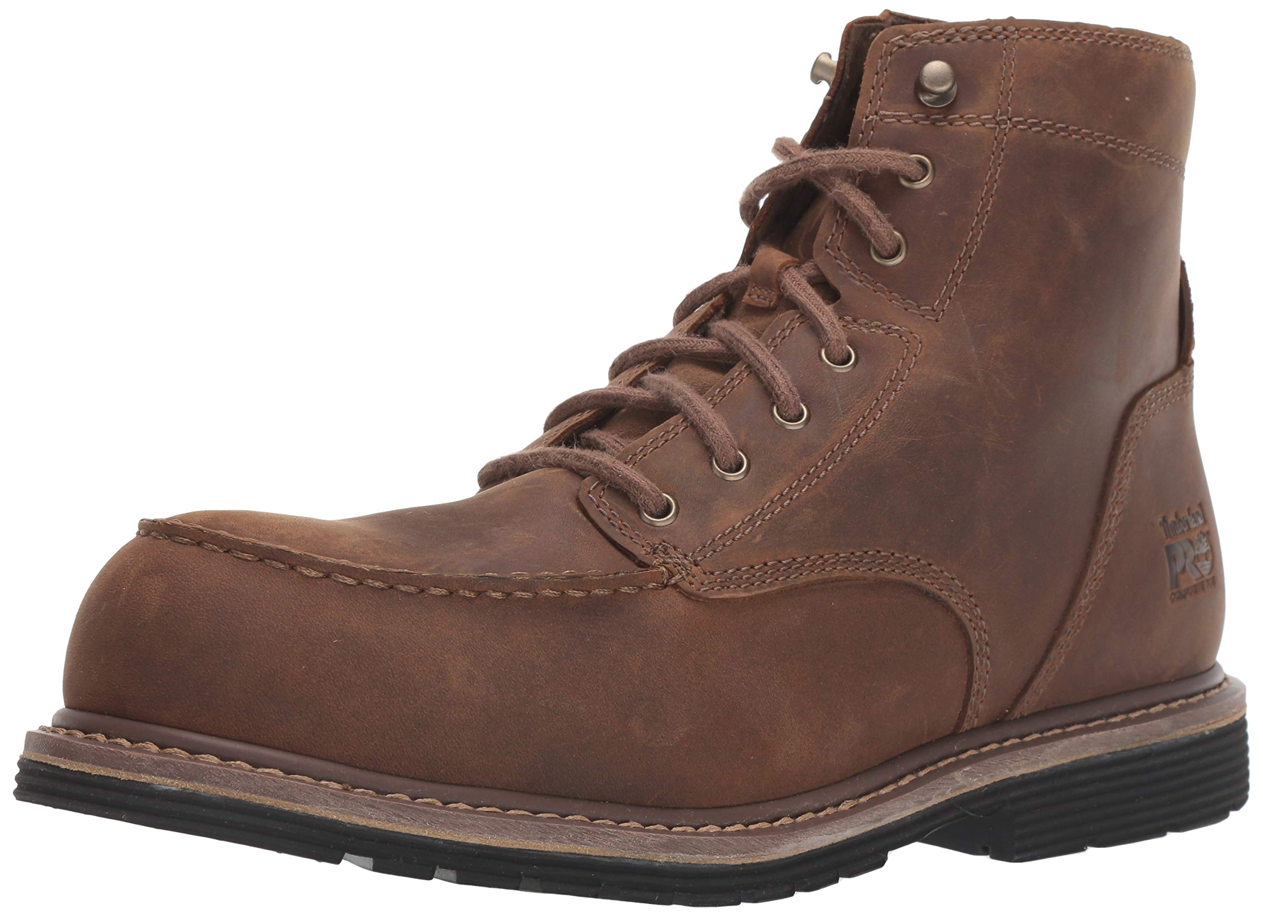 Timberland PRO Men's Millworks 6'' Moc Composite Safety Toe Industrial Boot, Brown Gaucho, 12 W US by Timberland PRO