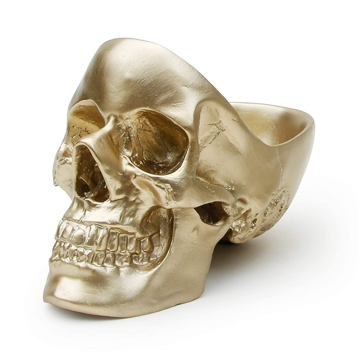 Suck UK Skull Tidy, Jewellry Box Accessories Container in Gold-Perfect for Storing Keys, Jewellery, Stationary, Spare Coins or Cosmetics