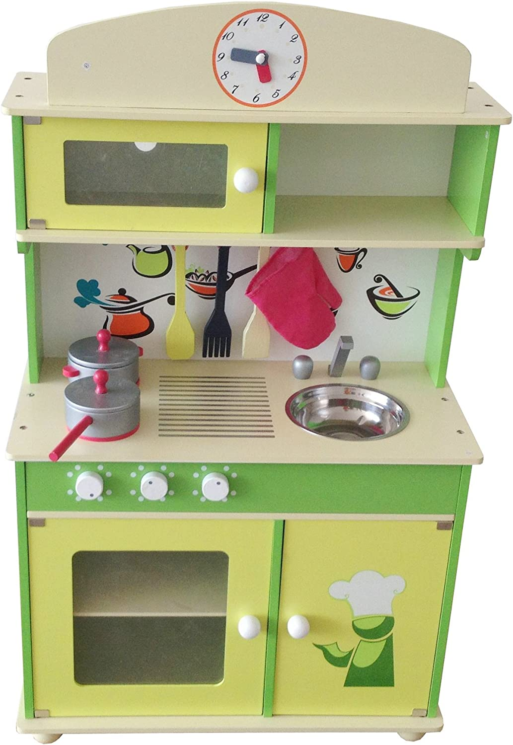 Amazon Com Berry Toys My Cute Green Wooden Play Kitchen Toys Games