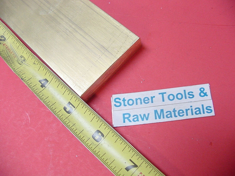 1//4 x 2 C360 BRASS FLAT BAR 13 long Solid .250 Plate Mill Stock H02