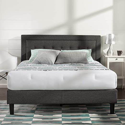 Wood Slat Support Twin Zinus Upholstered Button Tufted Wingback Platform Bed