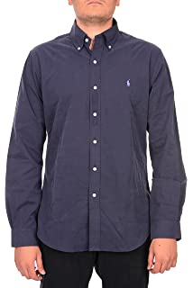 Polo Ralph Lauren Mens Slim Fit Woven Buttondown Shirt XL, Blue Tattersall