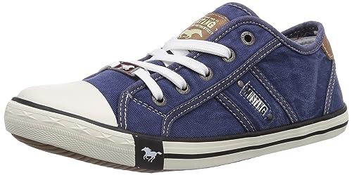 Mustang - 1099-302, Chaussures Femme, Bleu (jeansblau), 39 Eu