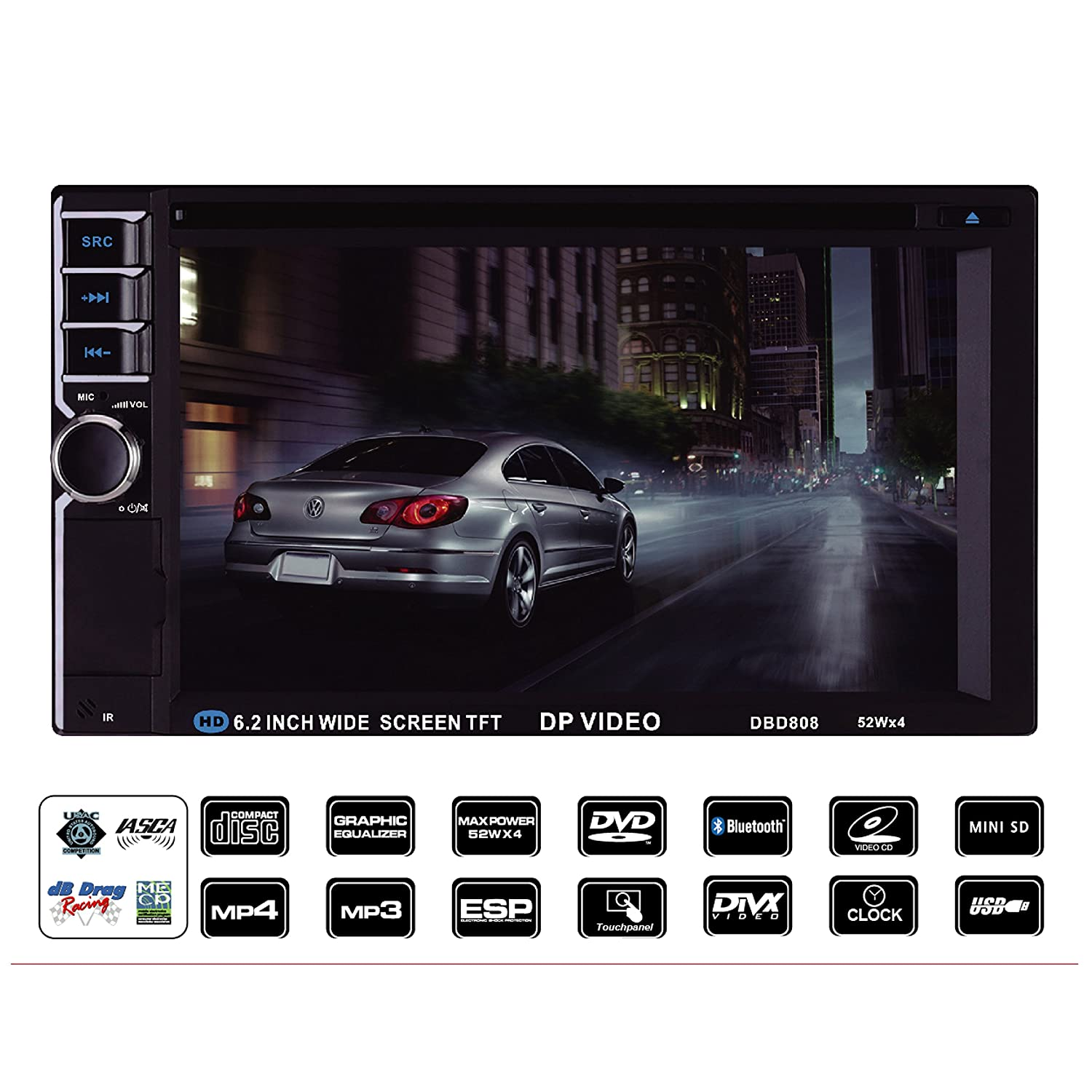amazon com dp audio video dbd808 6 2 inch double din multimedia rh amazon com Car Audio Speakers Car Auido