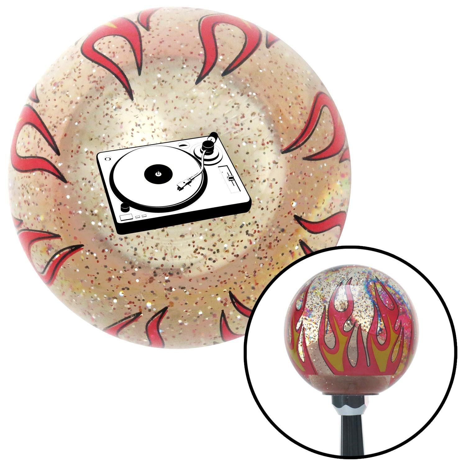Turntable American Shifter 235340 Clear Flame Metal Flake Shift Knob with M16 x 1.5 Insert