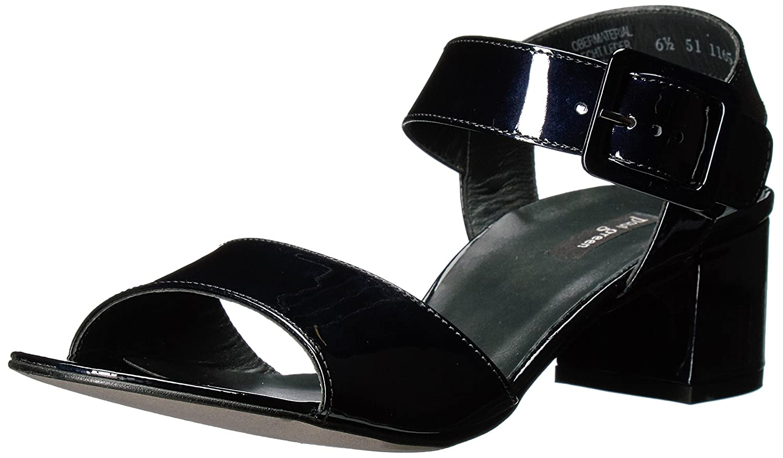 Paul Green Women's Nadine SNDL Flat Sandal B01M2WNH1I 6 B(M) US|Blue Steel Patent