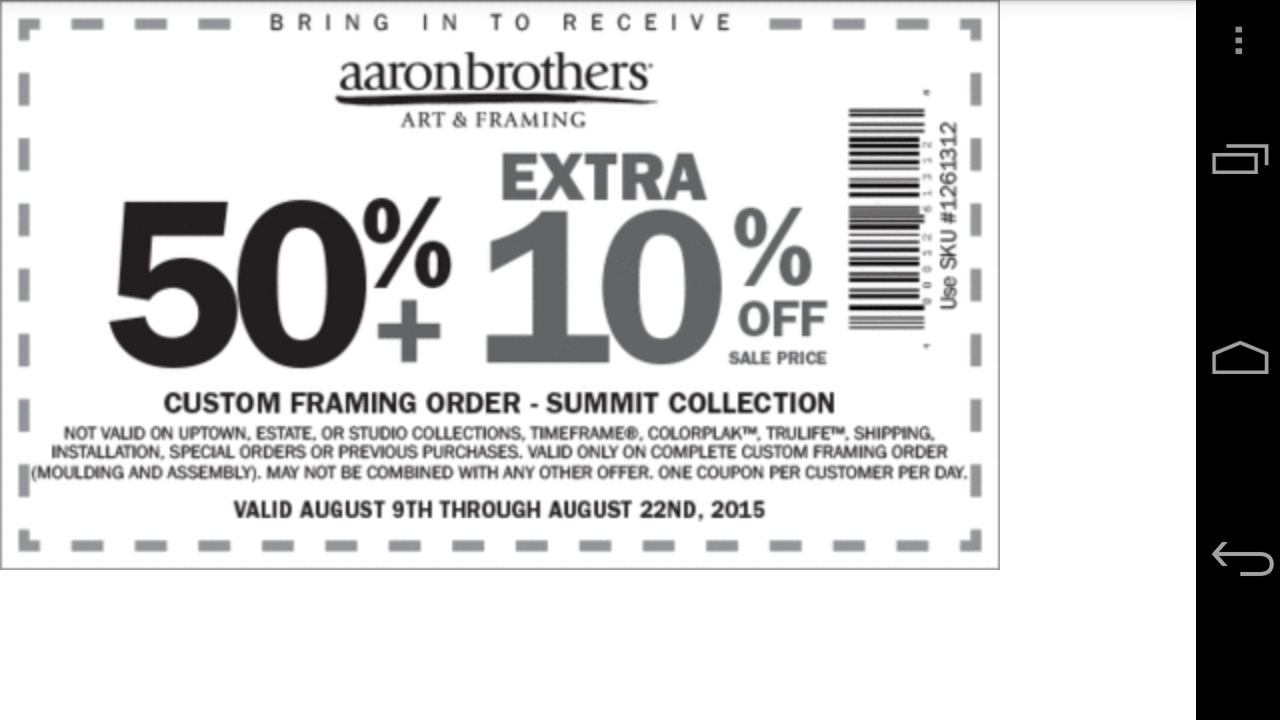 Amazon.com: Coupons for Aaron Brothers: Appstore for Android