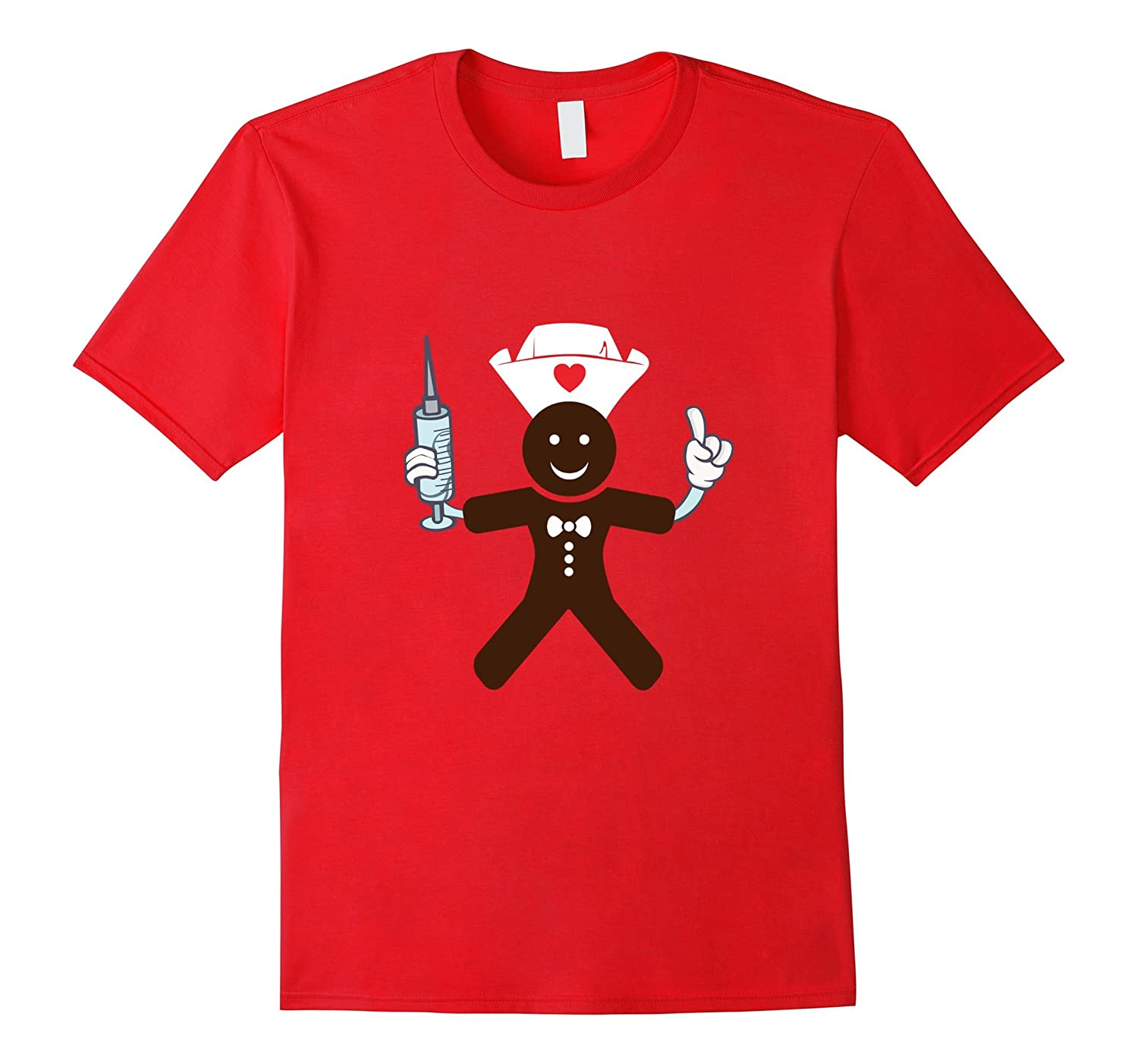 Gingerbread Man Nursing - Funny Christmas Nurse Shirts-ANZ