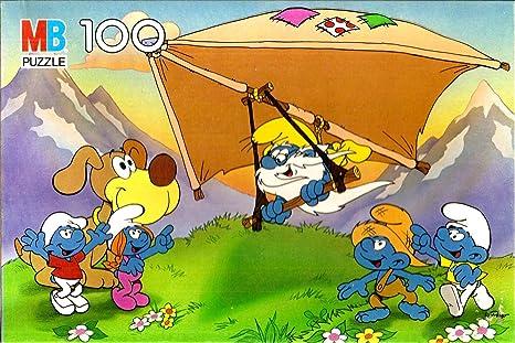 Amazon Com Vintage 1987 Smurf Puzzle Smurfs Hang Gliding 100