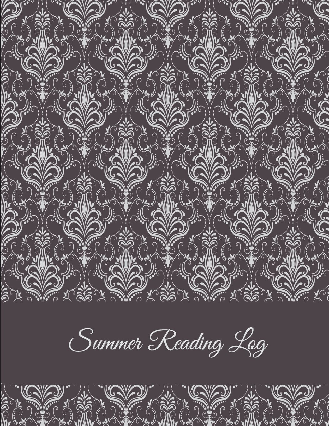 """Summer Reading Log: Brown Color, Reading Log Gifts For Book Lovers Large Print 8.5"""" x 11"""" Reading Log Journal With Summary pdf"""