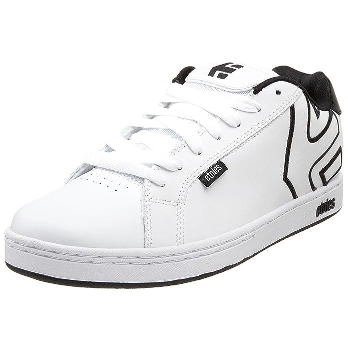 Etnies Fader Sneakers Skateboardschuhe Herren Weiß (schwarz/weißes Logo)