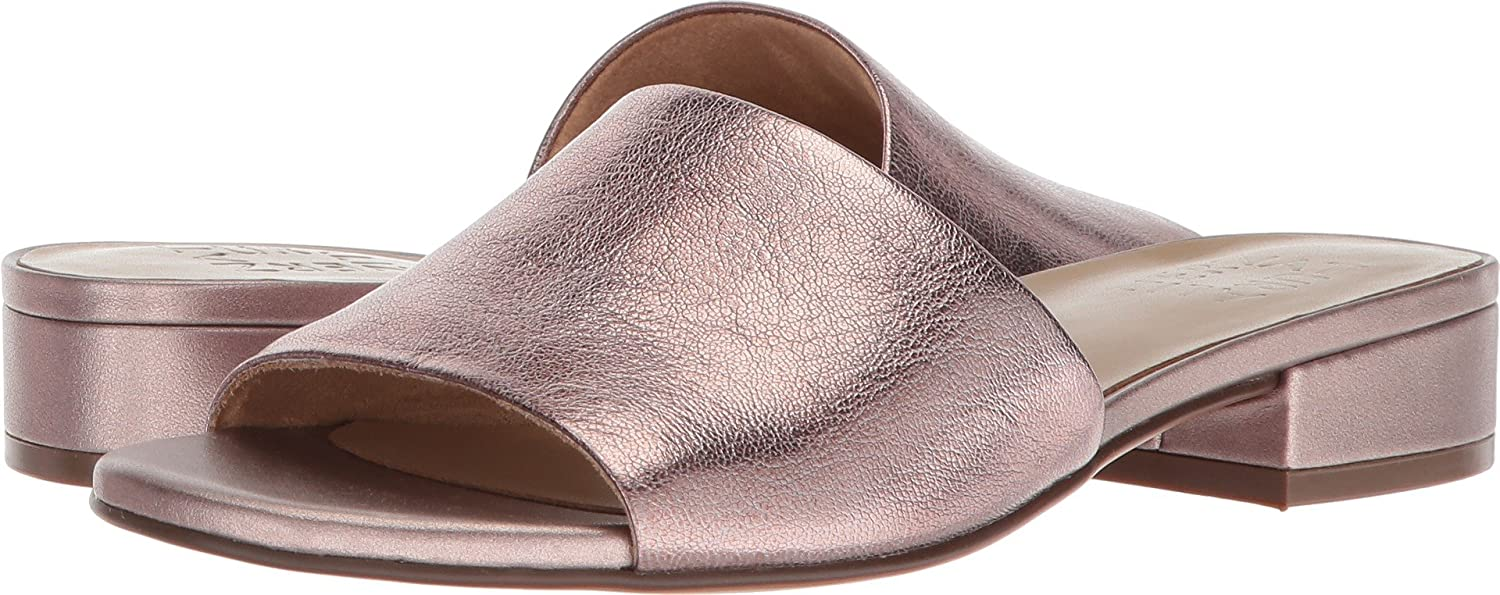 Naturalizer Women's Mason Slide Sandal B073X1GQDP 8 W US|Lilac Metallic Leather