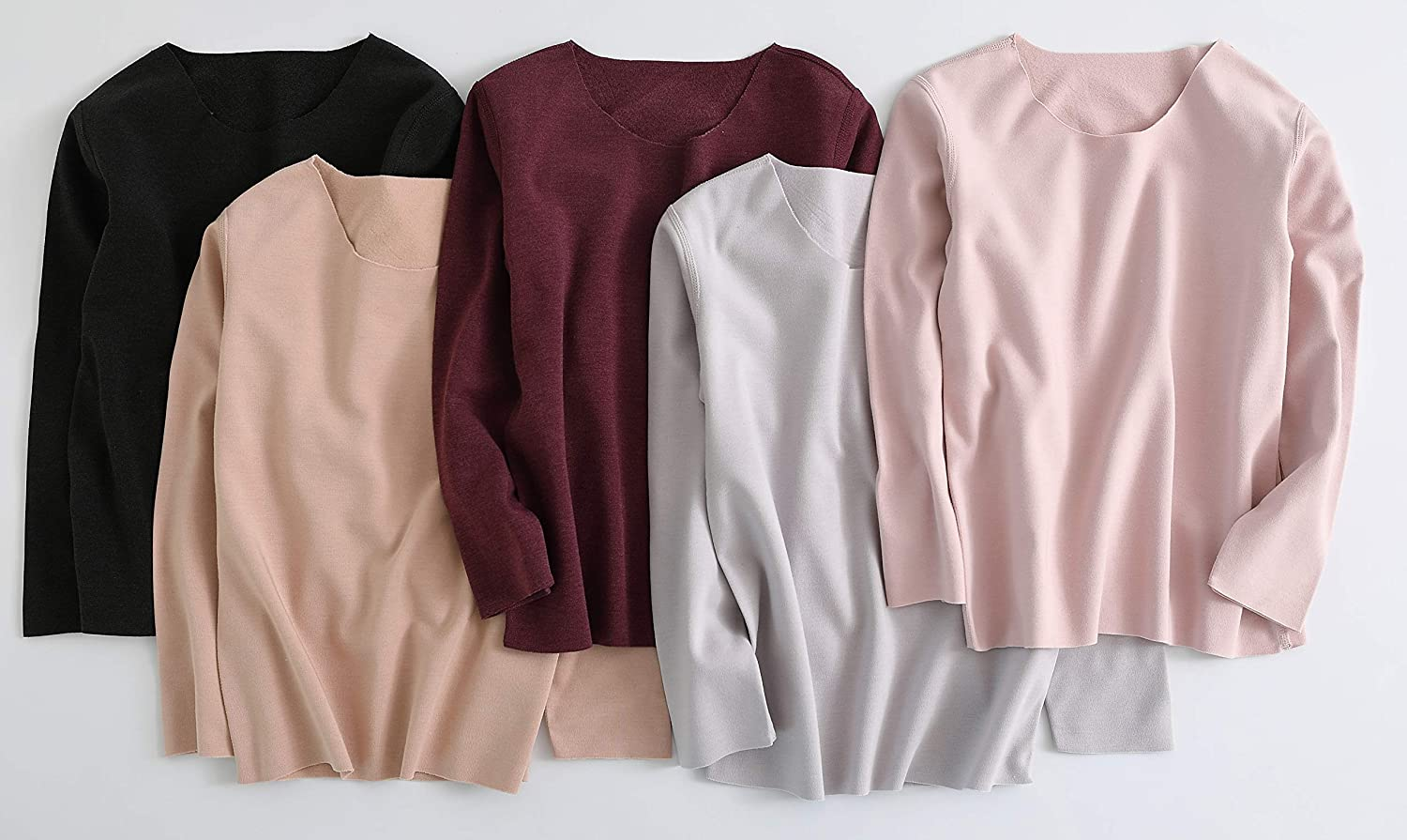 ABClothing Women /& Kids Laser Cut Thermal Underwear Set Warm /& Lightweight Invisible Fleece Lined Long Set Macaron Color