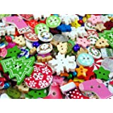 50g Christmas Mixed Buttons & Jingle Bells (Approx 150 Embellishments )