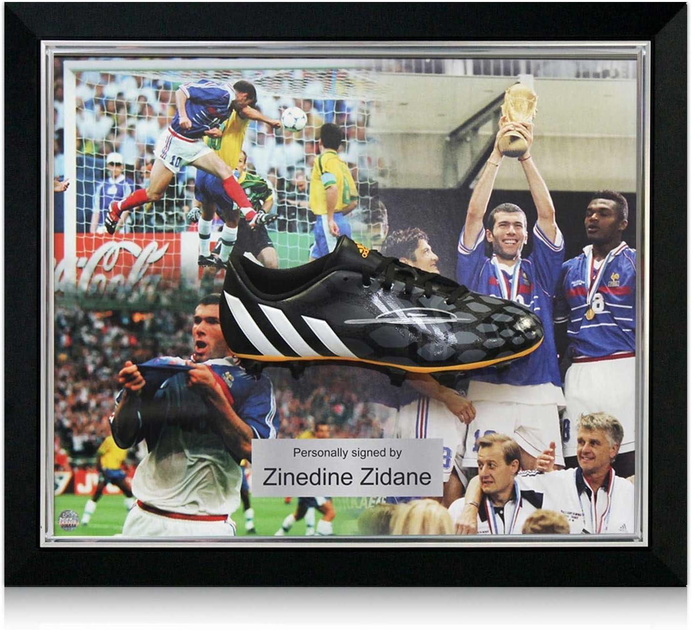 Deluxe Enmarcado Firmado Zinedine Zidane Botas de fútbol ...