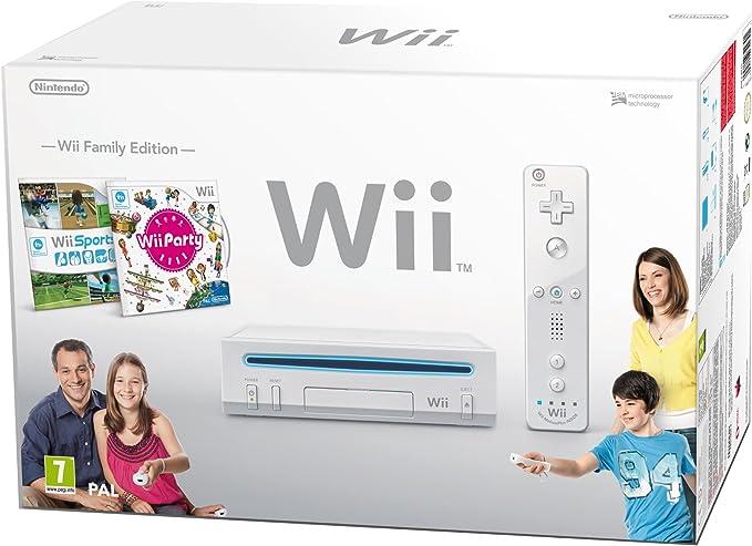 Nintendo Wii Family Edition - videoconsolas portátiles (Wii, Color blanco): Amazon.es: Videojuegos