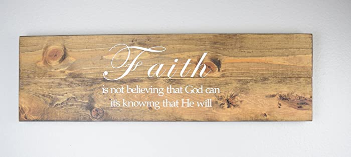 Faith Wood Sign   Christian Wall Décor U2013 Bible Verse Plaque