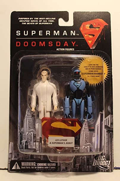 Death of Superman vs Dooomsday LEX LUTHOR /& Robot 5in figures DC Direct TOys