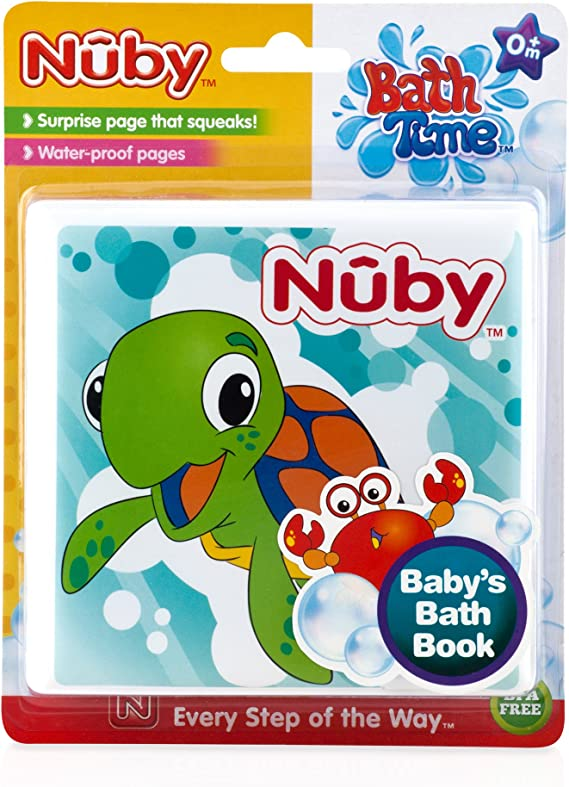 Soft Baby Bath Book Educational Waterproof Plastic Coated Fun Toy Gift