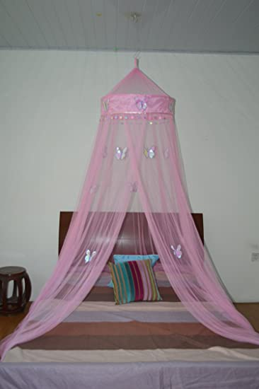 Octorose ® Butterfly Bed Canopy Mosquito NET Crib Twin Full Queen King (pink ) & Amazon.com: Octorose ® Butterfly Bed Canopy Mosquito NET Crib Twin ...