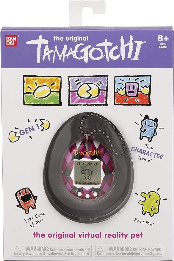 Amazon.es: TAMAGOTCHI BANDAI 42868 Original Majestic - Feed, Care, Nurture - Mascota Virtual con Cadena para Jugar en Cualquier Lugar