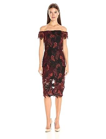 Amazon.com: ABS Allen Schwartz Women's Off-Shoulder Cocktail Dress ...