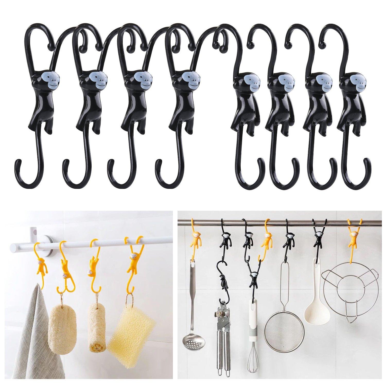 Hanging S Hooks For Towel Bathrobe Loofah Cloth Key Women's Handbag and More - 8 Pack