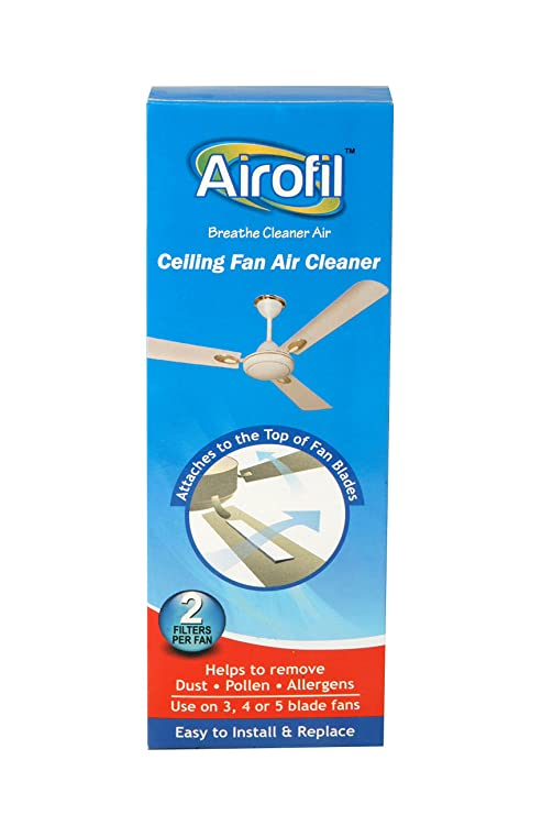 Airofil ceiling fan air cleaner helps to capture dustpollen airofil ceiling fan air cleaner helps to capture dustpollen allergens pack of aloadofball