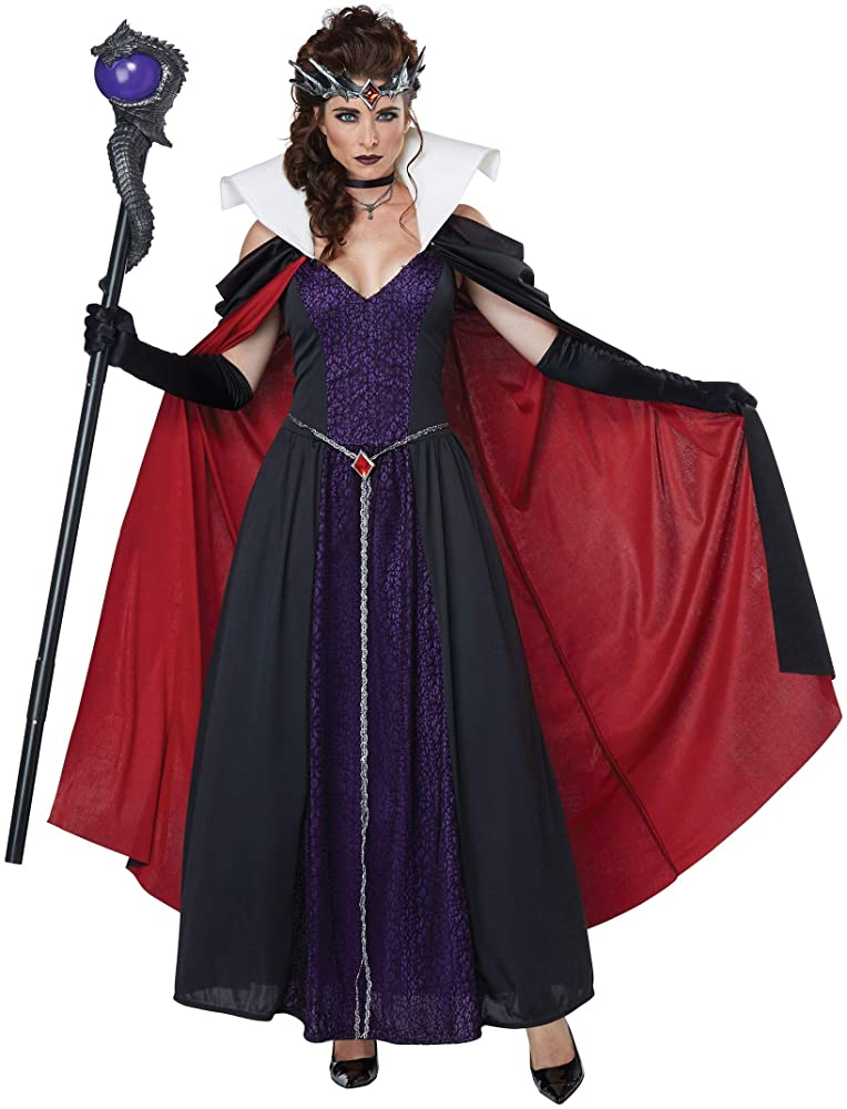 Extra Large California Costumes Womens Evil Storybook Queen Adult Costume Adult Costume Black//Purple