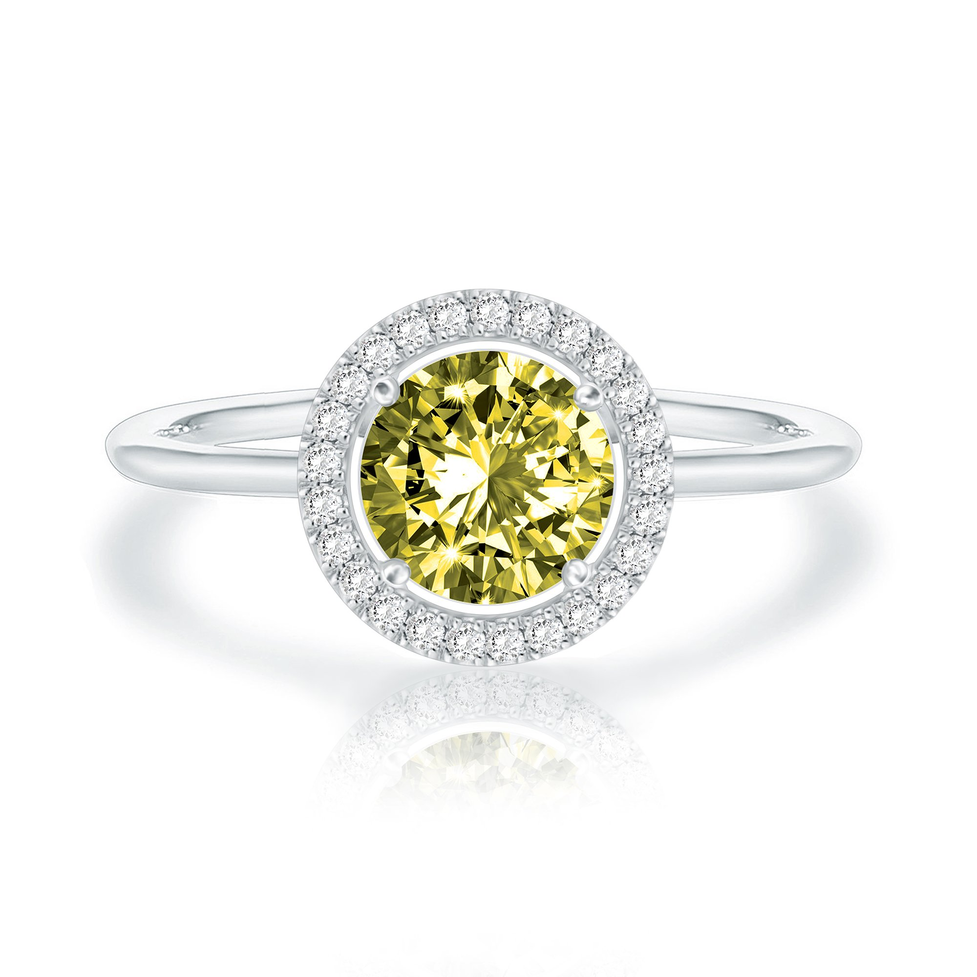 PAVOI 14K Gold Plated SWAROVSKI Crystal Birthstone Ring - Adjustable Stackable Ring August