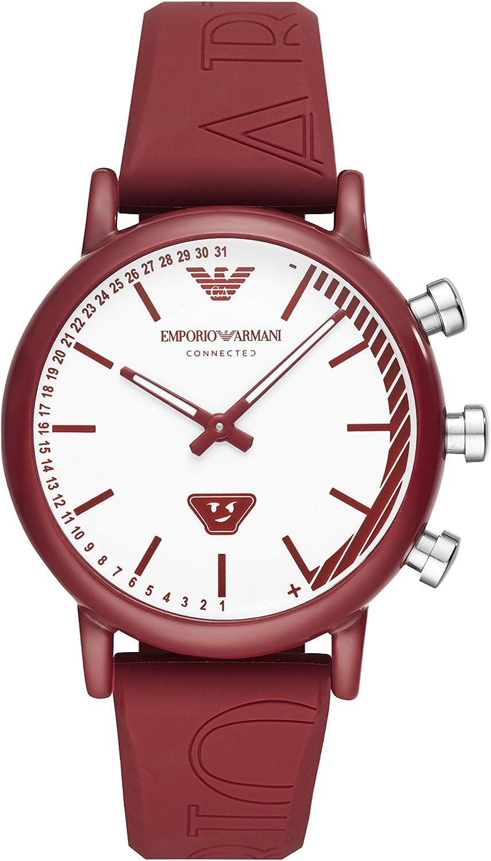 Emporio Armani Reloj Analógico para Hombre de Cuarzo con Correa en Silicona ART3024