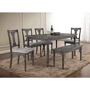 Excellent Amazon Com Best Master Furniture Demi 6 Piece Dining Set Cjindustries Chair Design For Home Cjindustriesco