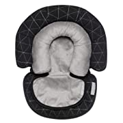 Head Support, Newborn Head and Neck Support for Car Seat and Stroller, Designed to Adjust with Age, Black Tri Stitch, Birth and Up