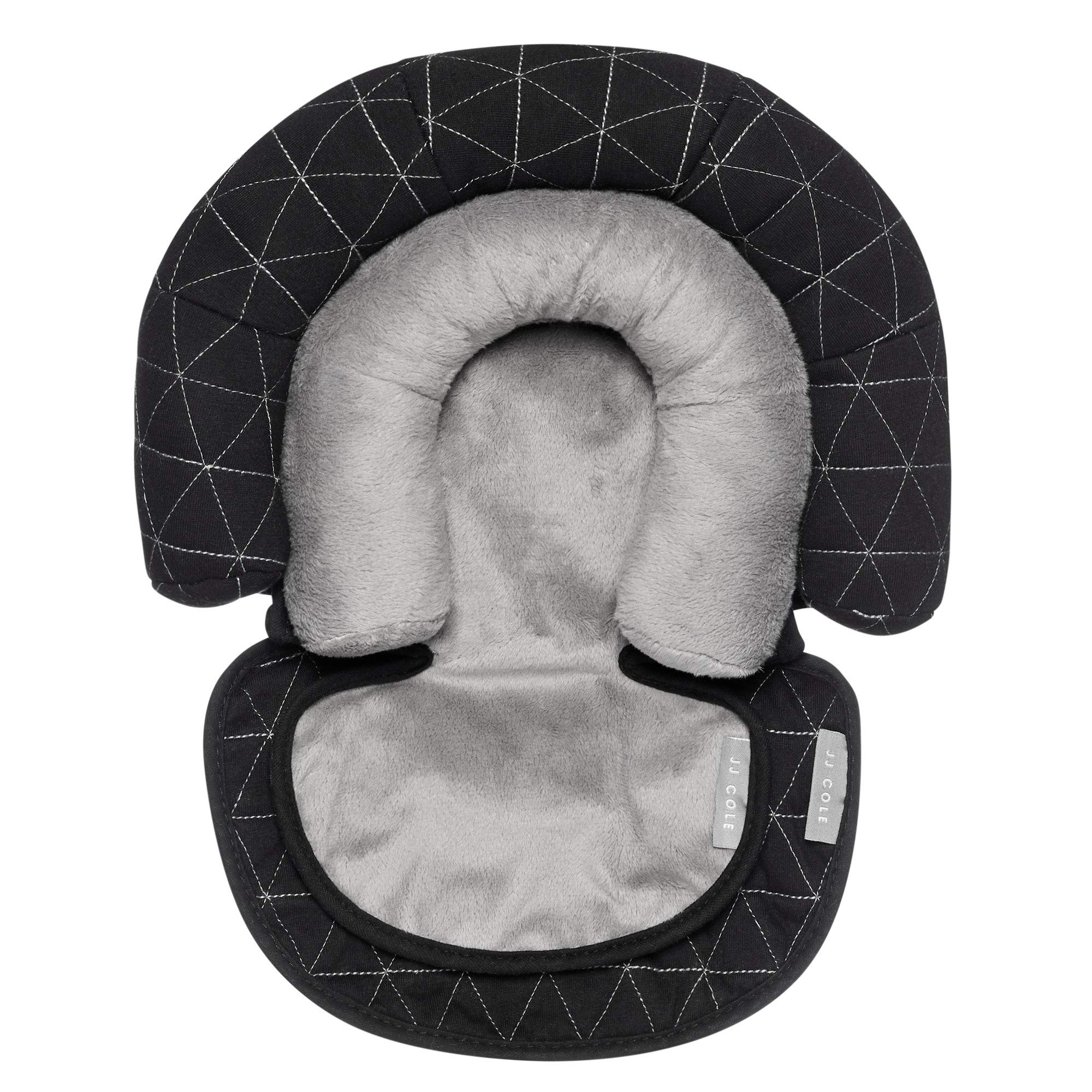 JJ Cole - Head Support, Newborn Head and Neck Support for Car Seat and Stroller, Designed to Adjust with Age, Black Tri Stitch, Birth and Up by JJ Cole (Image #1)