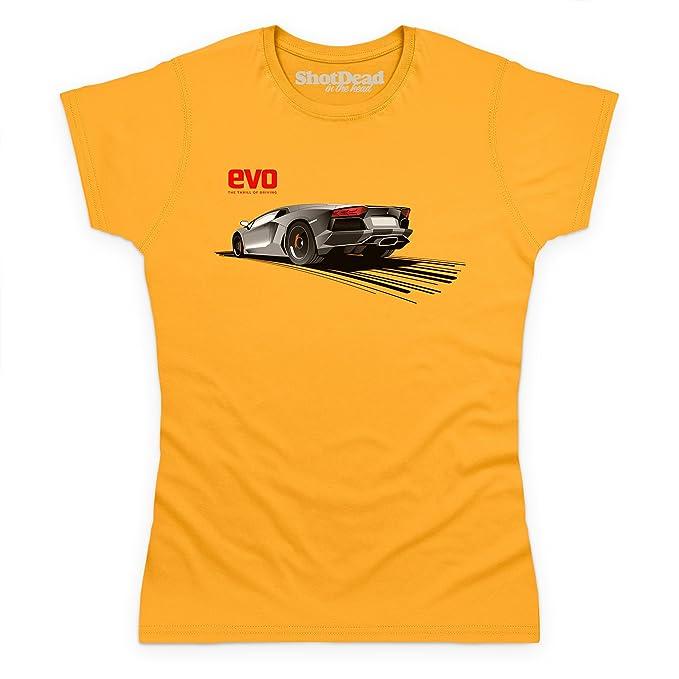 Shotdeadinthehead Evo Bull Aventador Red Logo Camiseta ae6628b6dd9