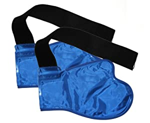 2 Wrist Hand Hot Cold Ice Pack Wraps - High Amount of Gel for High Efficiency - Confortable Nylon Wrapping Which Doesn't Leak