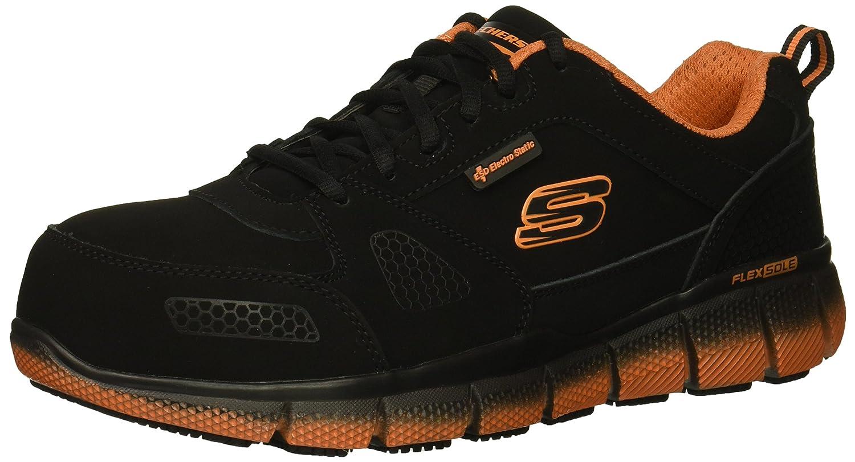 espalda arroz Beneficiario  Buy Skechers Men's Telfin-saket Industrial Shoe Black Nubuck with Orange 7  D(M) US at Amazon.in