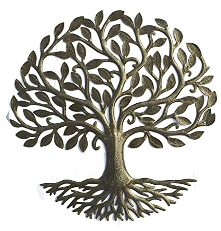Metal Wall Art Haiti Tree Of Life Recycled Steel Garden Art