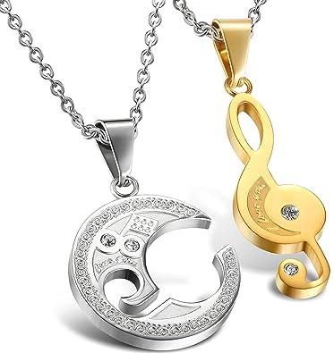 Amazon.com: Colgante de acero inoxidable Jstyle Jewelry ...