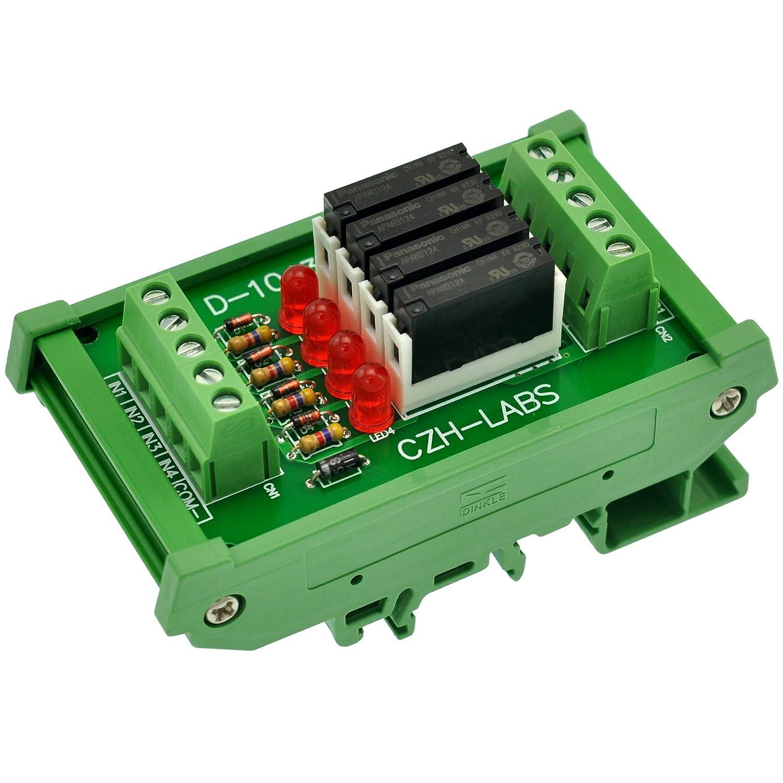 Electronics-Salon Slim DIN Rail Mount Outlet Max 49% OFF sale feature SPST-NO DC24V Source PNP 4