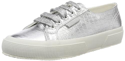 Superga 2750-COTMETEMBOSSEDCOCCOW, Zapatillas para Mujer, Plateado (Grey Silver 031), 35 EU: Amazon.es: Zapatos y complementos